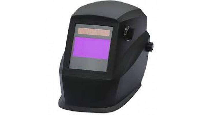 Auto-darkenning black welding helmet