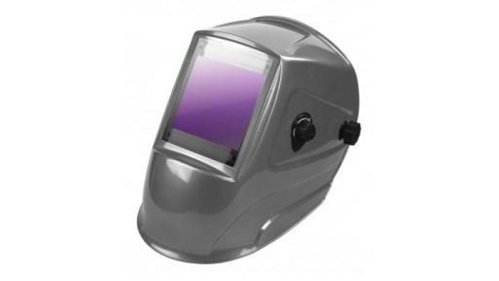 Auto-darkening welding helmet silver large vision