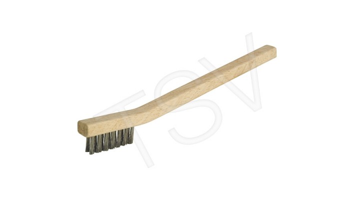 brosse à main inox petite manche de bois