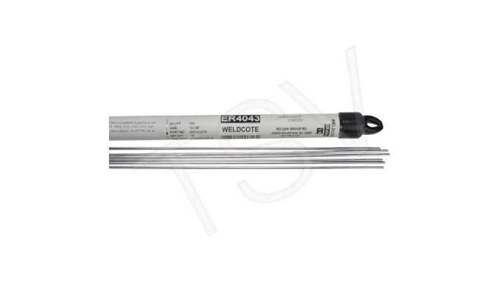 baguette aluminium 4043 3/32 en tube de 1 lb