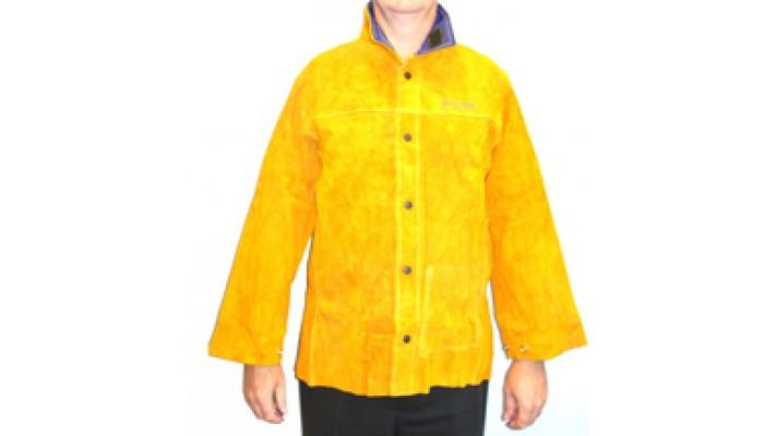 Manteau soudeur cuir large
