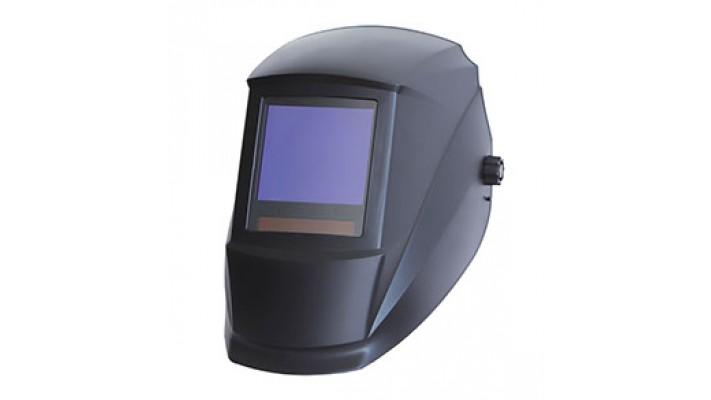 Auto-darkening black helmet